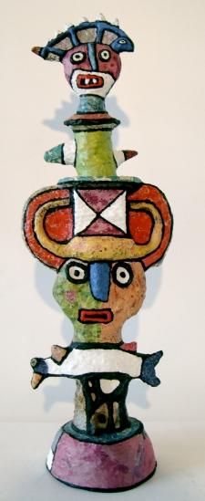totem à l'iguane